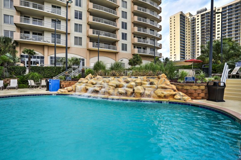 Treat yourself to a first-class getaway when you stay at this artfull decorated 3-bedroom, 3-bathroom vacation rental beach condo in Margate Tower!