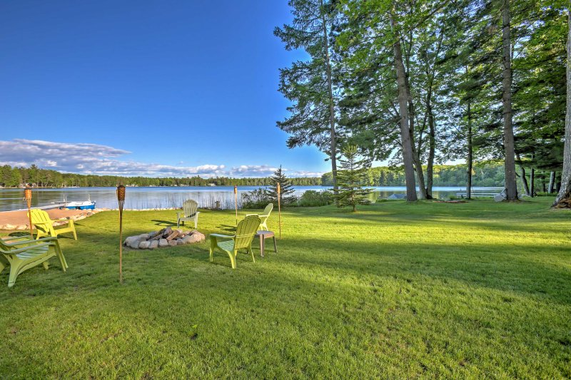 Splendid views and countless outdoor opportunities await you at this 3-bedroom, 2-bathroom Interlochen vacation rental house!