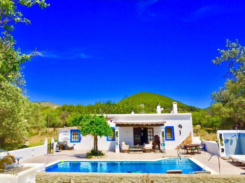 Villa 5 double bedrooms 3 bathrooms2 Kitchens and big Swimming pool ibiza, holiday rental in Sant Joan de Labritja