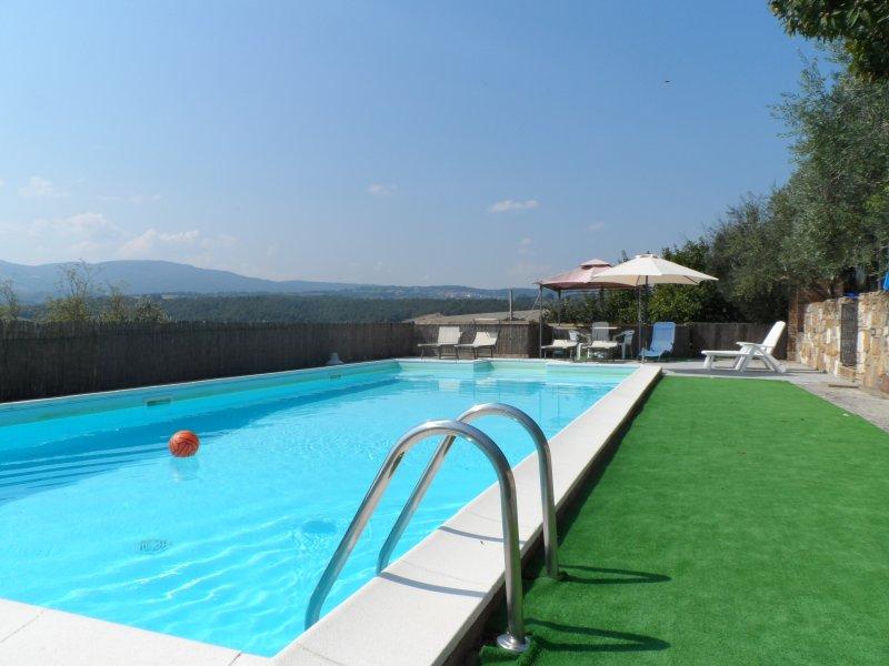 Villa indipendente con piscina privata,aria condizionata,internet wi fi – semesterbostad i Macciano