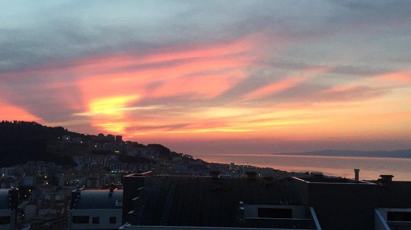 Sunset vista do terraço