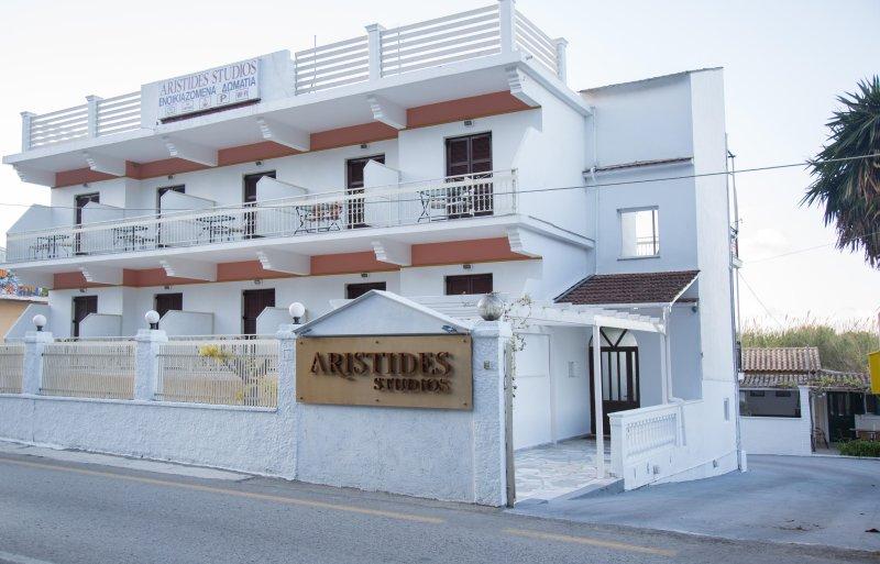 Aristides Studios | Terrace, vacation rental in Perama