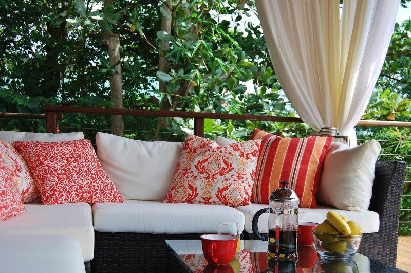 Din egen privata lounge, perfekt för morgonkaffet