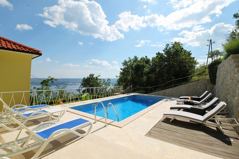 24m2 private pool with sundeck area and comfortable deck chairs