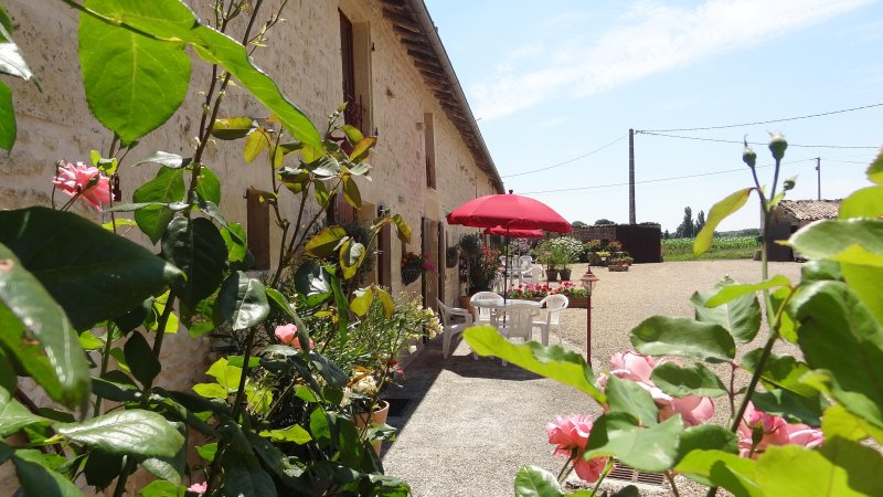 L'Hirondelle, spacious 4 bedroom gite, swimming pool, large gardens, play area, holiday rental in La Foret de Tesse