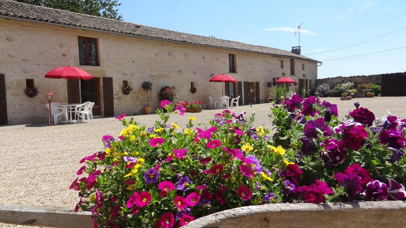 Le Roitelet - spacious 2 bedroom gite, swimming pool, large gardens, play area, holiday rental in La Foret de Tesse