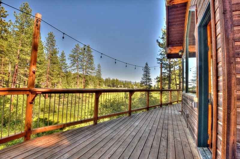Back deck overlooking Tahoe's National Forests