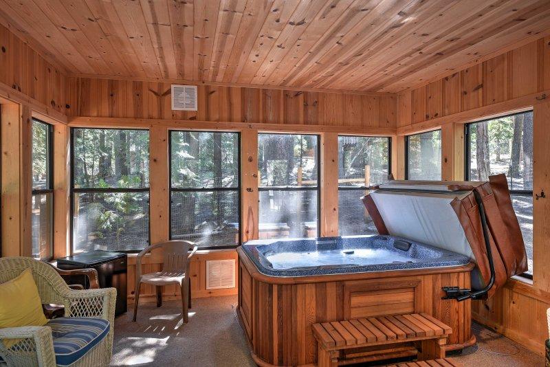 South Lake Tahoe Ski Retreat w/ Hot Tub+Tree House, casa vacanza a Markleeville