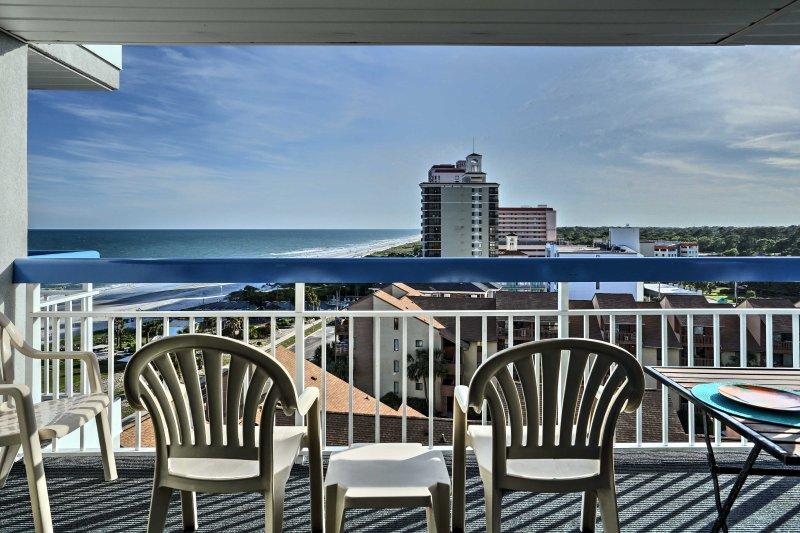 Sareste fatica a trovare una posizione migliore per una vacanza in spiaggia di questo 1-camera da letto, 1,5 bagno condo in affitto a Myrtle Beach.