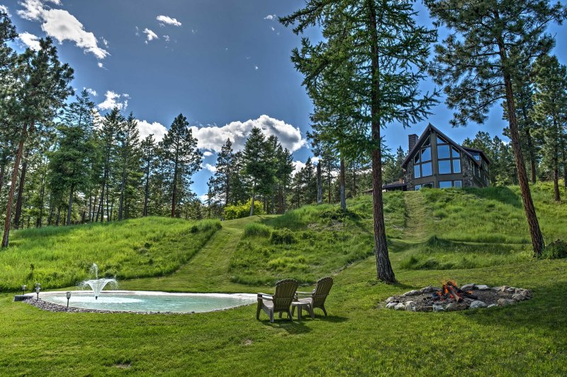You'll have a relaxing retreat when you stay at this secluded 5-bedroom vacation rental house in Somers!