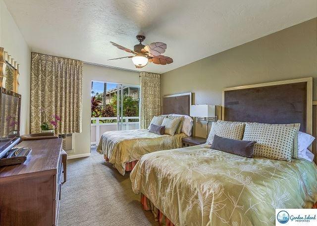 Chambre avec 2 lits queen size