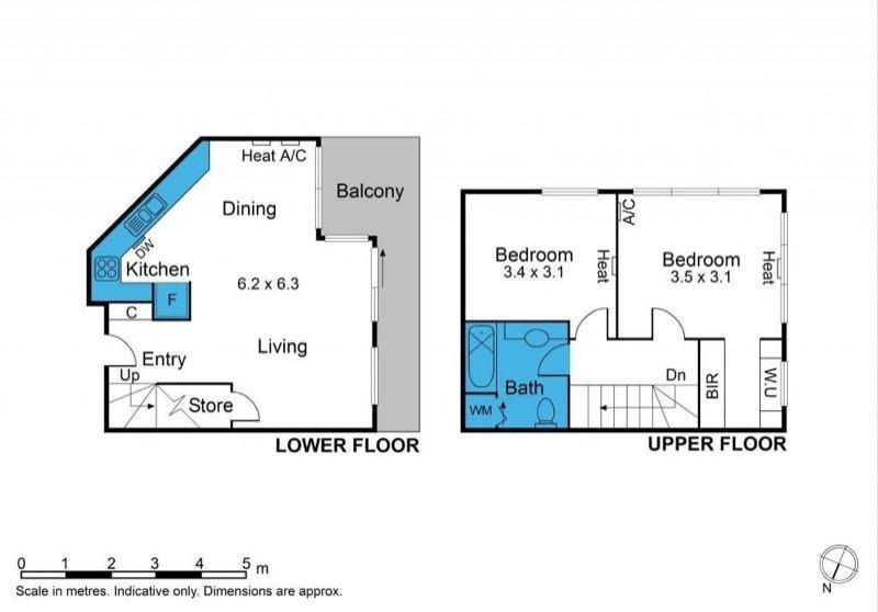 Melbourne CBD Apartments -floor plan de