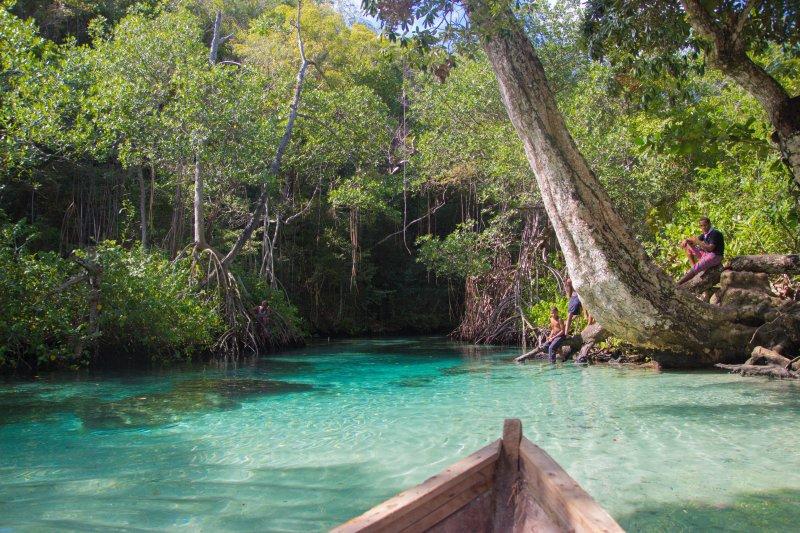 Caño Frio (cold river): a spring water river where to swim inside in Rincon Beach