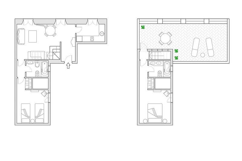 70m² | second floor | no elevator