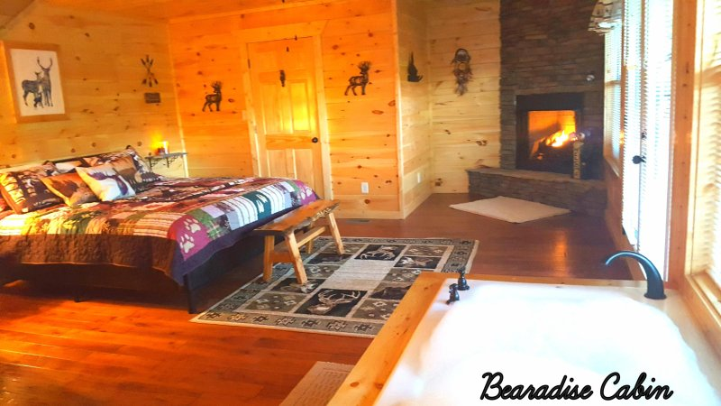 2 Master Bedroom suites with full baths, decks, fireplace, jacuzzi tub