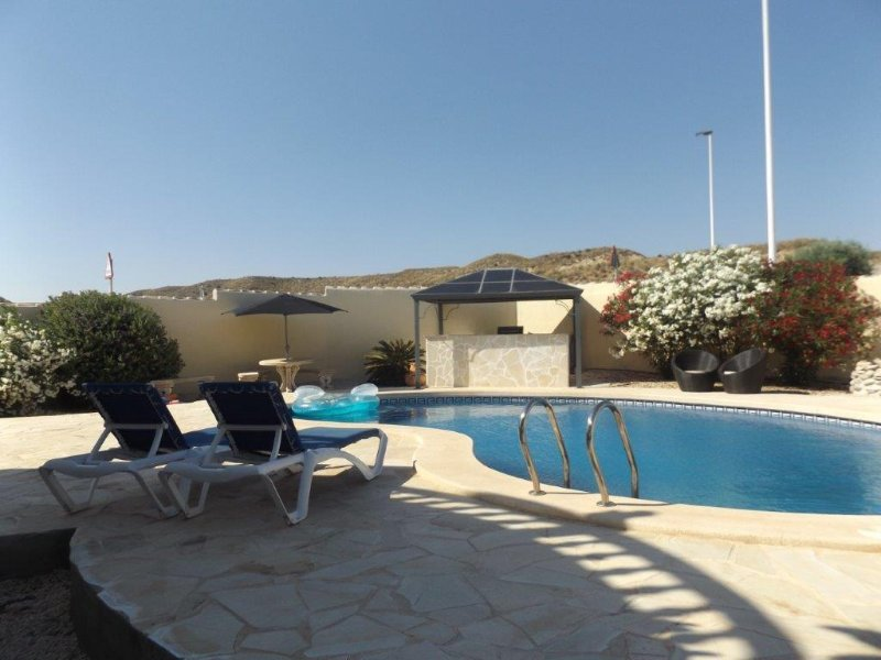 Private pool area with bbq & bar area. Shalama