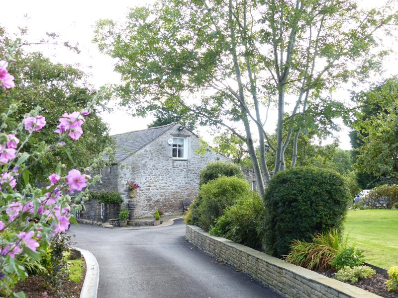WELCOME: our private driveway and beautiful grounds