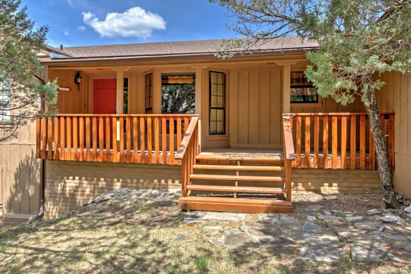 Enjoy a unique mountain getaway at this Ruidoso vacation rental house!