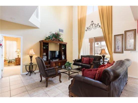 Sofá, muebles, en el interior, habitación, lámpara