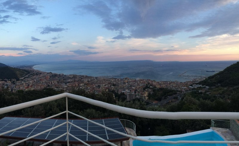 the view from the Cilento coast to the Amalfi Coast