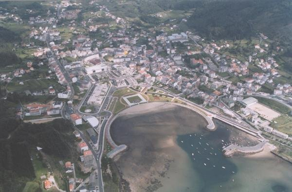 Aerial views of the village of Cee