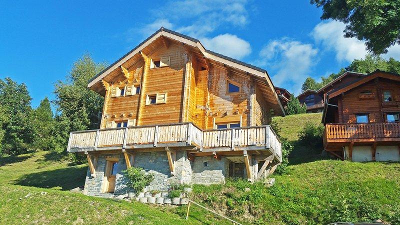 Chalet 12/14p 300m des pistes sauna cheminée Belle vue Tarentaise et Beaufortin, alquiler vacacional en Montalbert