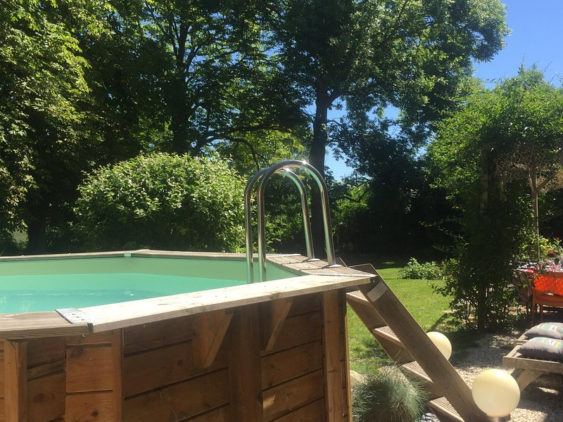 wood pool in shared garden