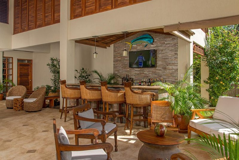 Great Room opens to Bar and Verandah