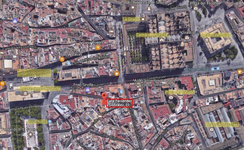 Appartamento posizione sulla mappa: 22, Fernández y González Street. C / Fernández y González Nº22