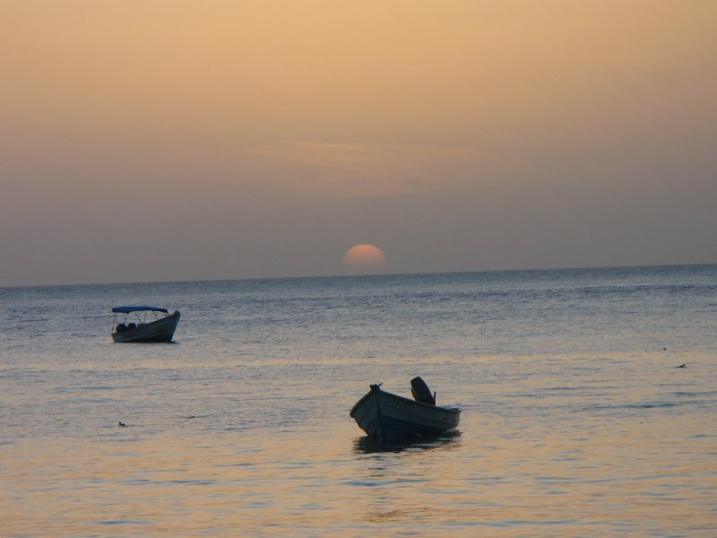 Sunset at Castara Bay