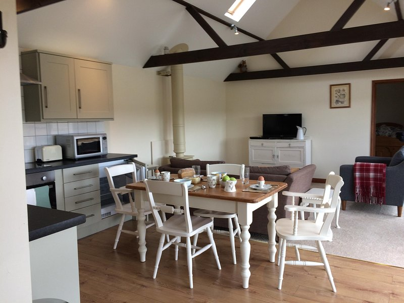 Open plan layout in Medlars Barn
