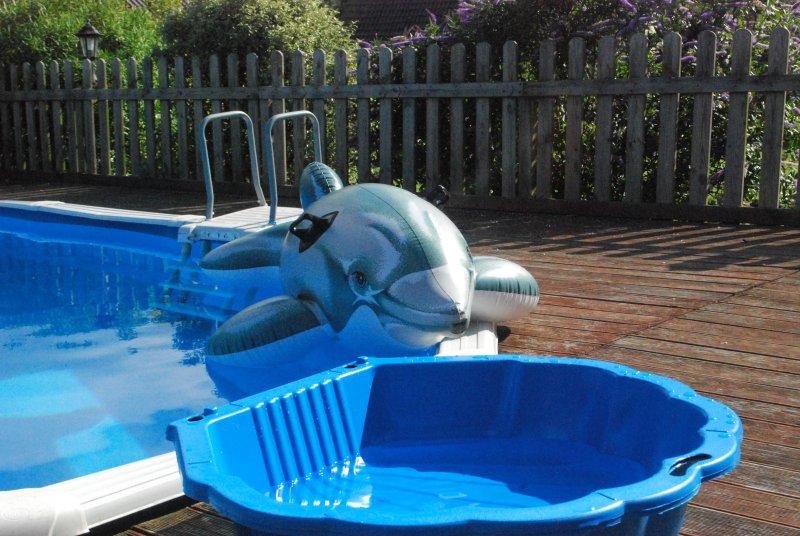 Remando shell piscina disponível para uso para as crianças.