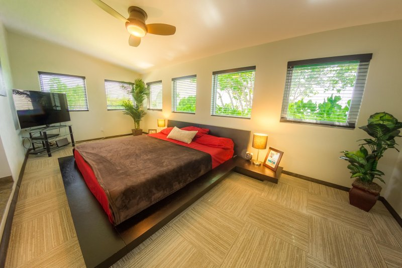 Master bedroom has satellite and 50' TV