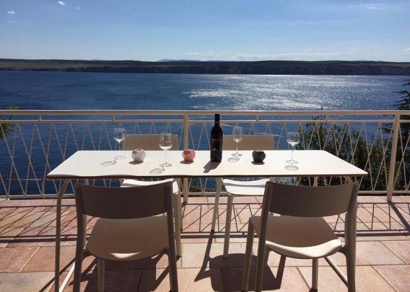 Terrace with stunning sea view, perfect place to relax