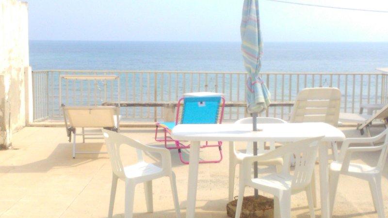 panoramic terrace overlooking the sea
