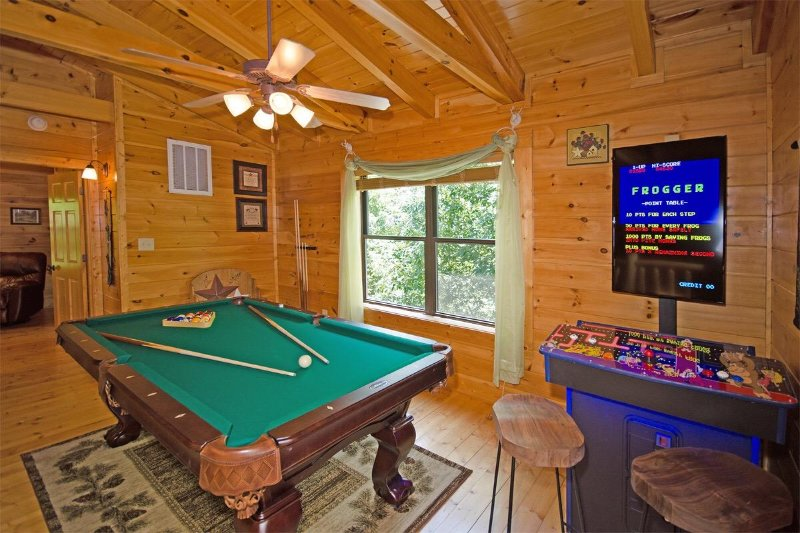 Game room with  professional pool table