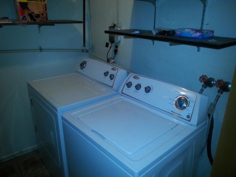 Free laundry room with washer and dryer