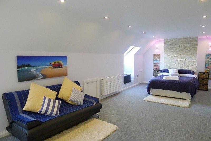 Arriba dormitorio de la planta capacidad para 4