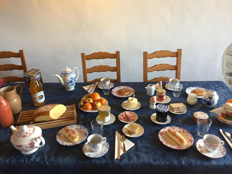 Continental breakfast sweet and savory: fresh homemade products