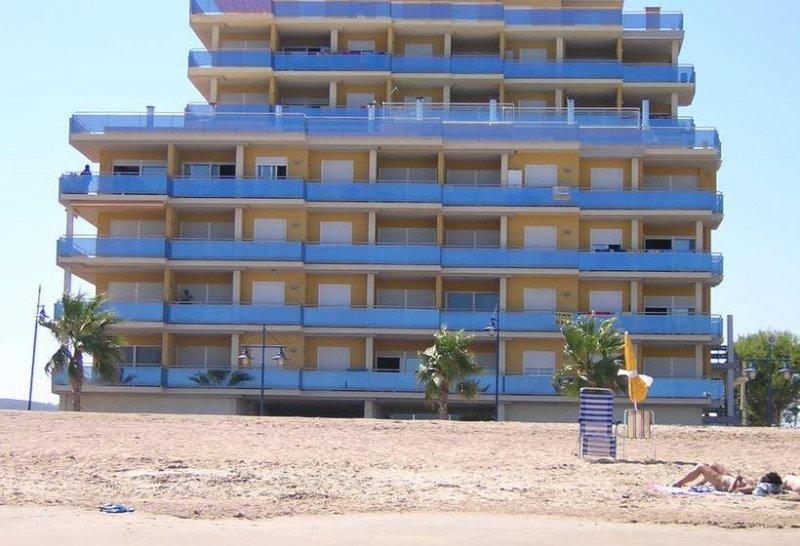 Building sand beach just opposite