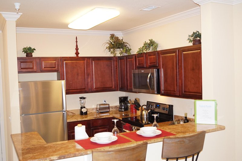 Furnished kitchen with stainless steel appliances added in May 2017