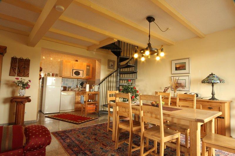 Vista de la cocina Apartamento sala de ordeño Ferienwohnanlage Alte Molkerei