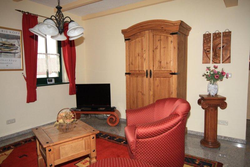 sala de estar, sala de televisión en el apartamento sala de ordeño