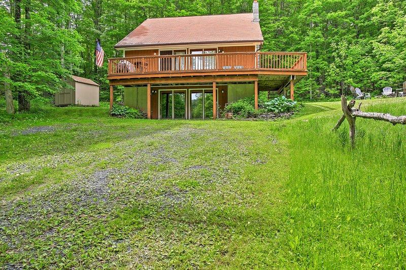 Esta casa en los Catskills se sentirá rápidamente como en casa!