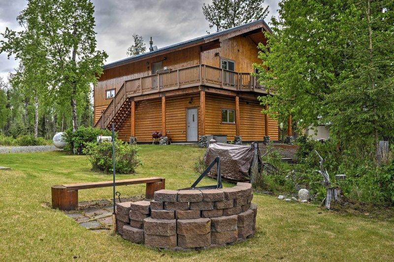 Genießen Sie die Ruhe und Gelassenheit der Wildnis von Alaska up!