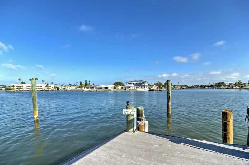 Take the kayak out for a joy ride on the water or just sit back, relax and enjoy the view from the dock.