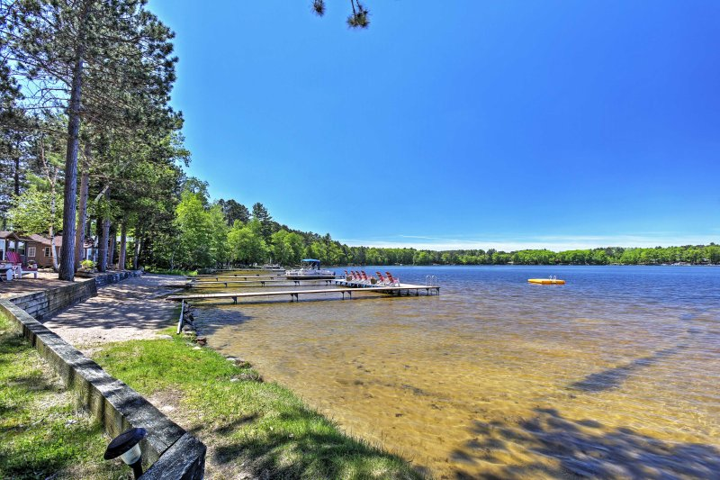 The home is just a 5-minute walk from Little Saint Germain Lake.
