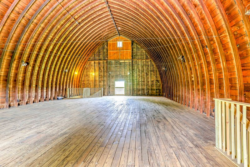 Host a fun family event in the barn's upstairs cathedral!