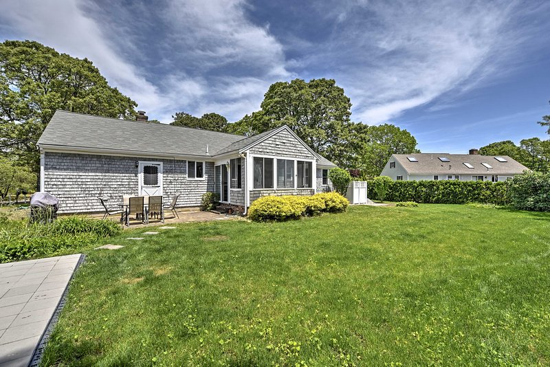 The spacious yard is great for fun activities during your stay at this property!