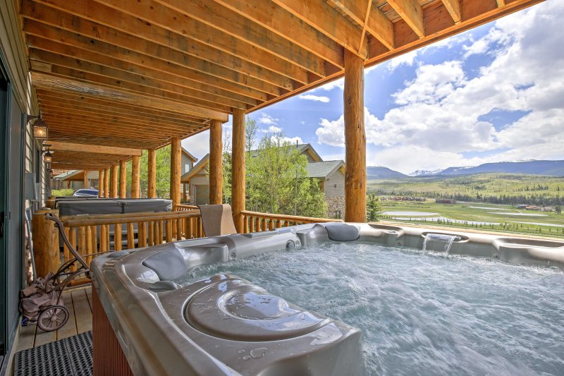 Soak in a private hot tub with great views at this Fraser vacation rental condo!